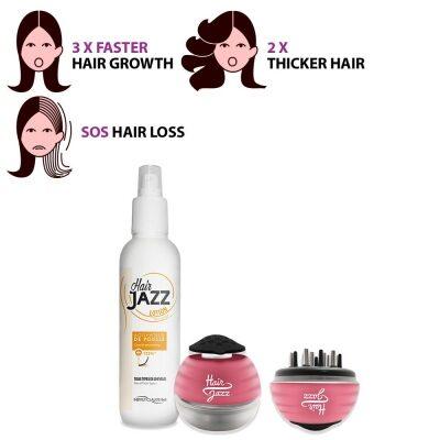 HAIR JAZZ Scalp Massager + Hair Growth Accelerating Lotion