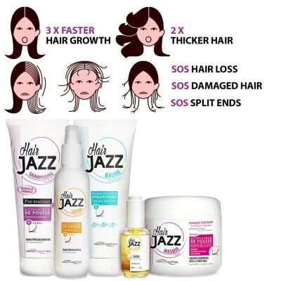 HAIR JAZZ - accelerate hair growth and treat brittle hair