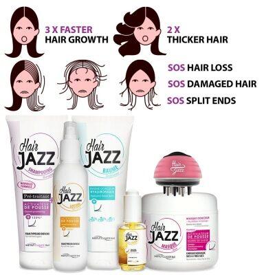 HAIR JAZZ Set - Complete Washing Routine + Serum + Scalp Massager