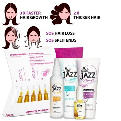 HAIR JAZZ Set - Super Growth with Ampoules For Hair Growth