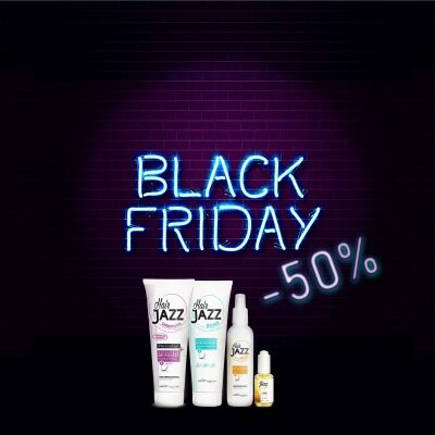 Black Friday Offer! HAIR JAZZ Hair Growth Set With Hyaluronic Conditioner
