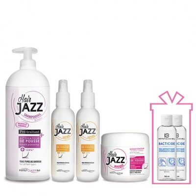 Hair Jazz Set- 6 months Growth Program + Gift Hydroalcoholic Antibacterial Hand Gel 100 ml